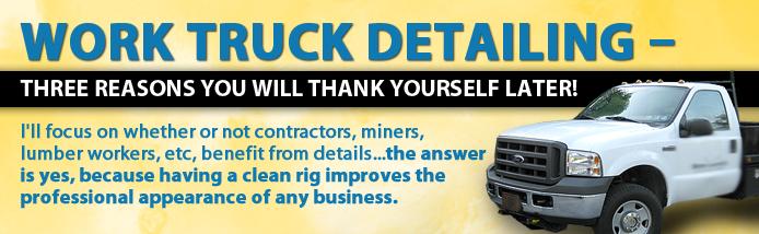 work truck detailing