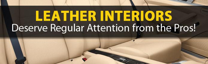 Auto leather care in Portland, leather interior care